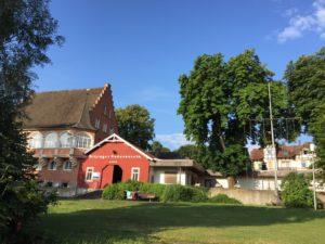 Das pittoreske Bootshaus in Kitzingen