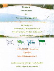 Anrudern OHV-Gruppe @ RV Birkenwerder | Birkenwerder | Brandenburg | Deutschland